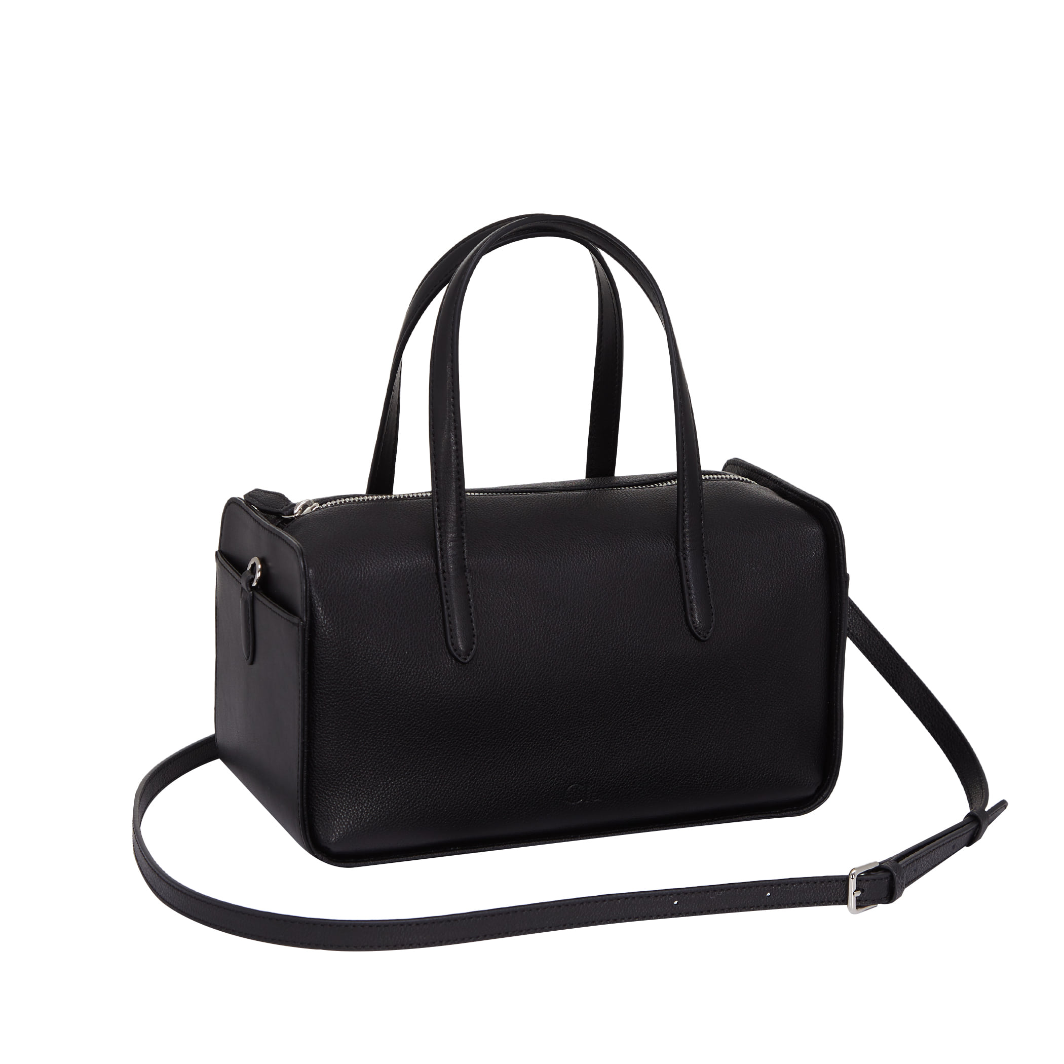 Clu_FLOCK BOSTON BAG IN BLACK
