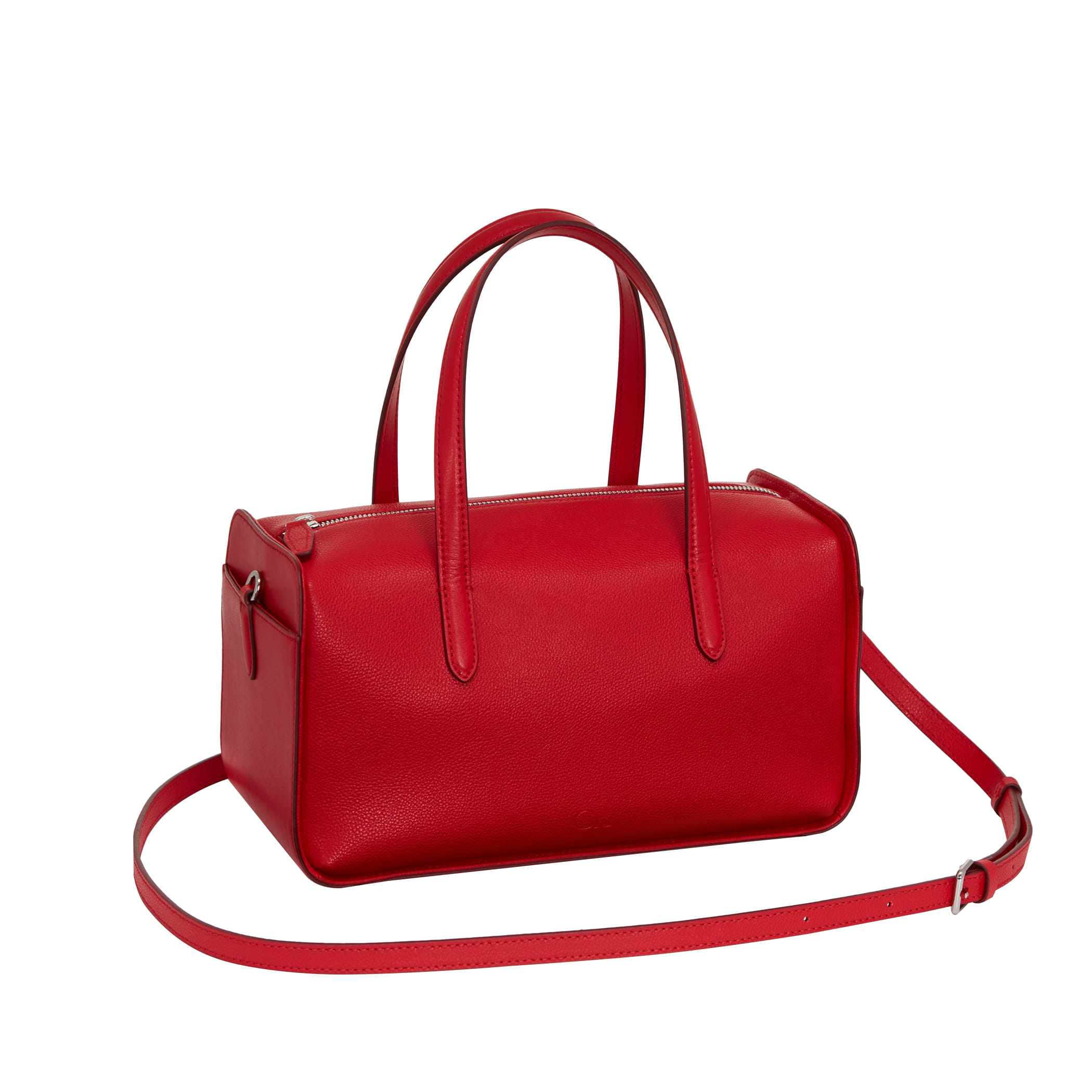 Clu_FLOCK BOSTON BAG IN RED