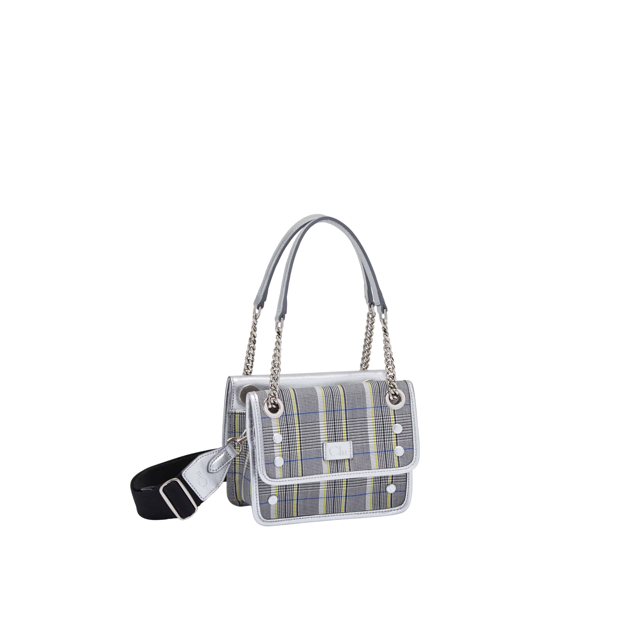 Clu_JAXSTA MINI CROSS BAG IN SILVER