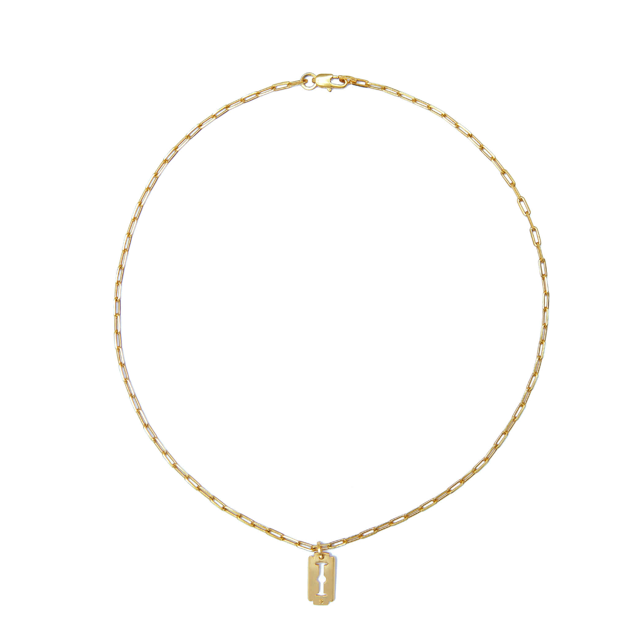 P.R.N (Piccolo Razor Necklace) Gold